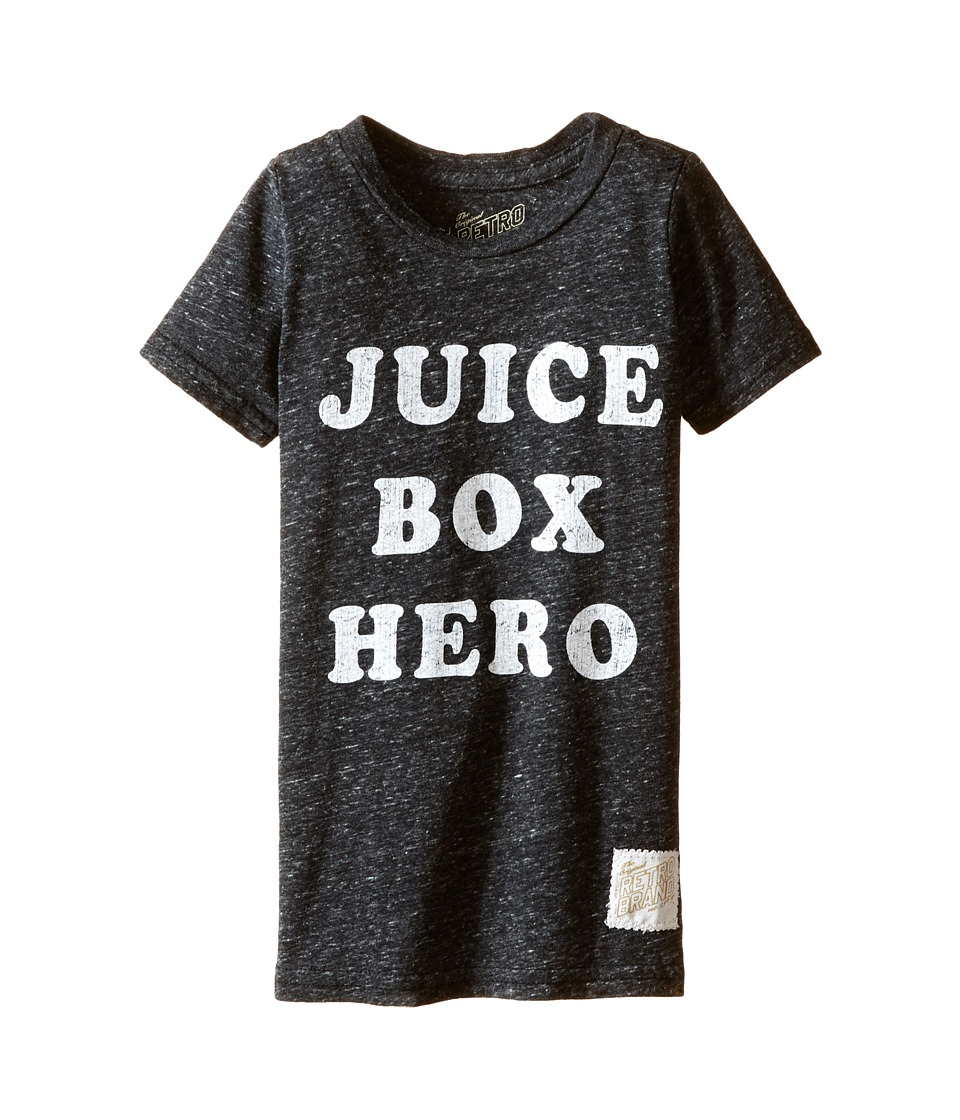 The Original Retro Brand Kids - Juice Box Here Streaky Tri-Blend Tee (Toddler) (Streaky Black) Boy's T Shirt