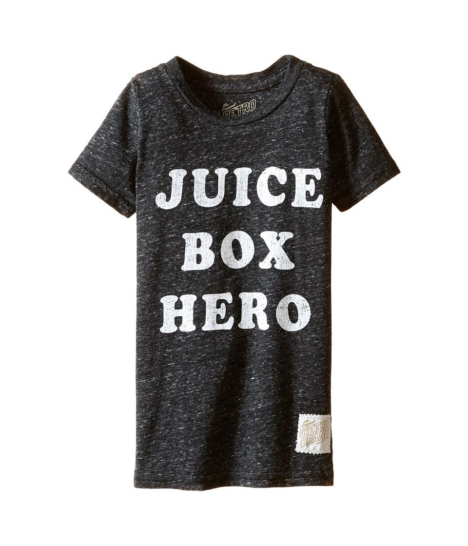 The Original Retro Brand Kids - Juice Box Here Streaky Tri-Blend Tee (Toddler) (Streaky Black) Boy's T Shirt