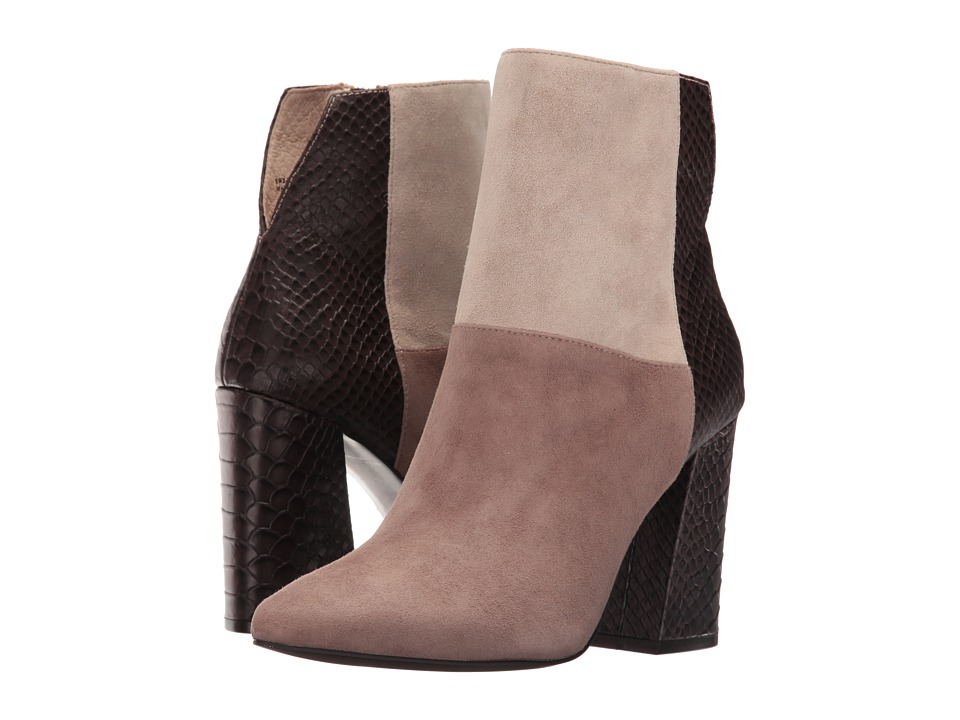 Kristin Cavallari Santorini Colorblock Bootie (Brown Multi) Women