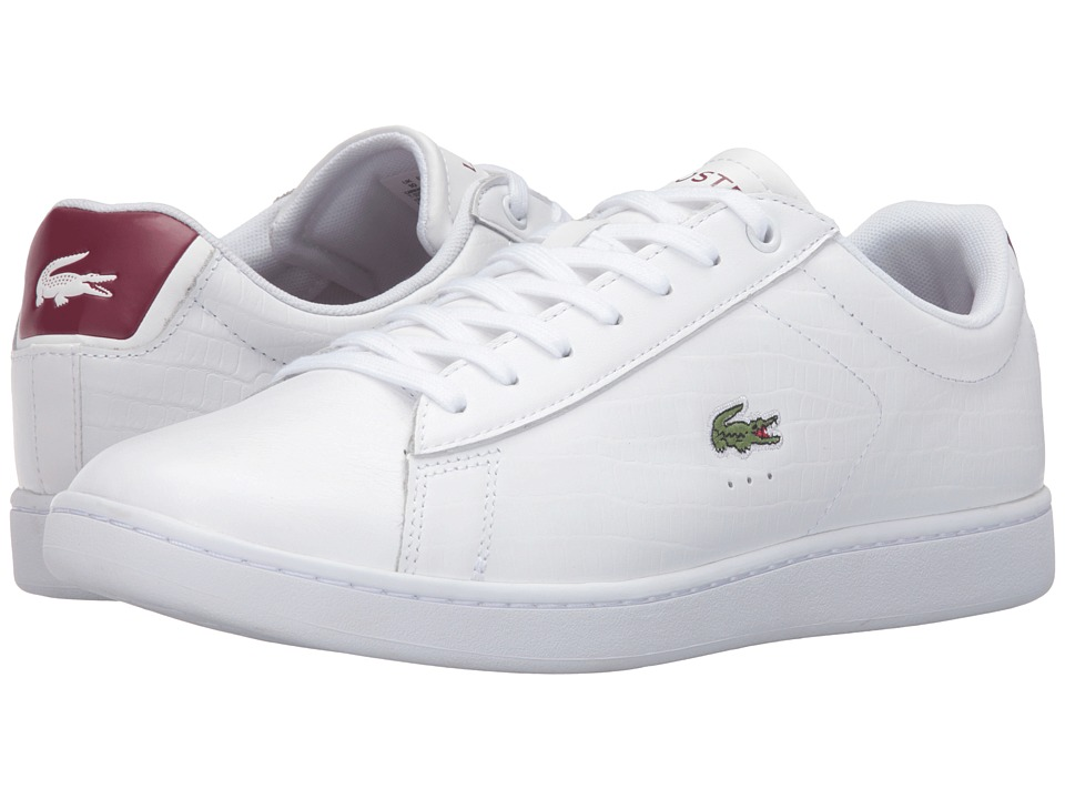 Lacoste - Carnaby EVO G316 7 (White/Red) Men's Shoes