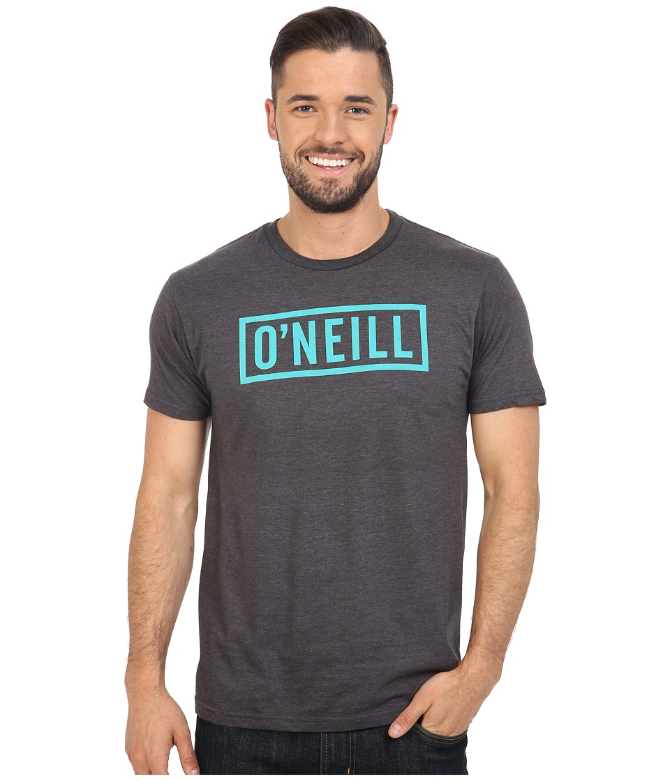 O'Neill - Block Short Sleeve Tee (Heather Black) Men's T Shirt
