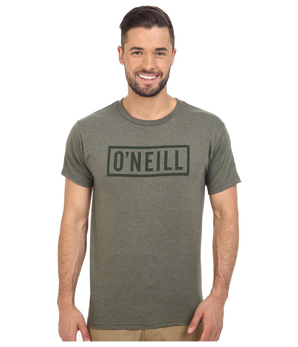 O'Neill - Block Short Sleeve Tee (Heather Olive) Men's T Shirt