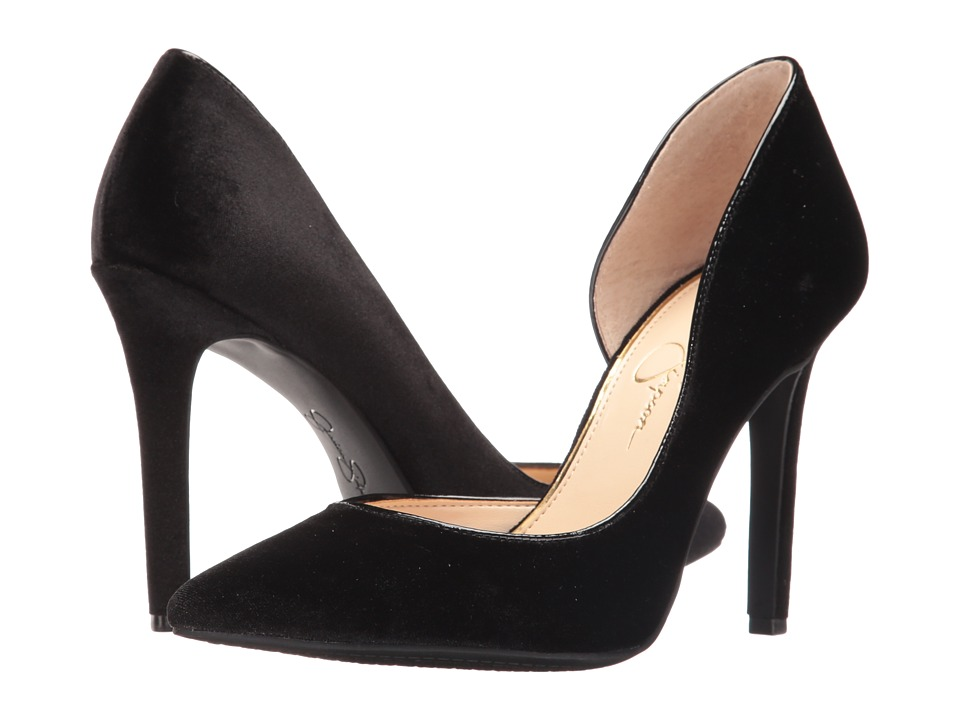 Jessica Simpson - Claudette (Black Luxe Velvet) High Heels