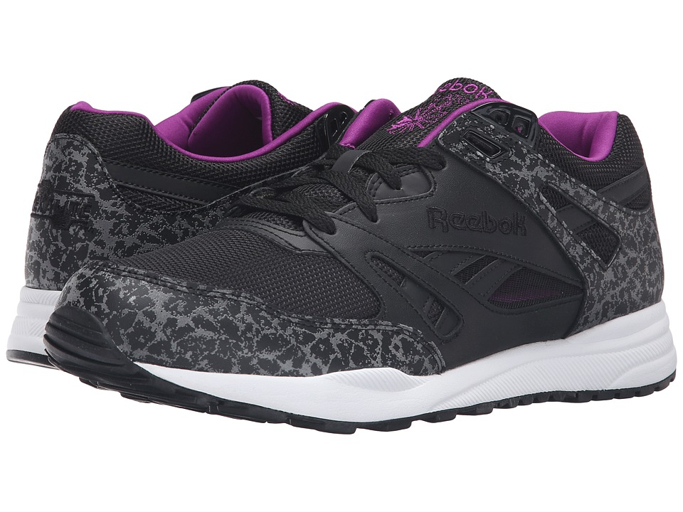 Reebok - Ventilator Reflective (Black/White/Aubergine) Men's Running Shoes