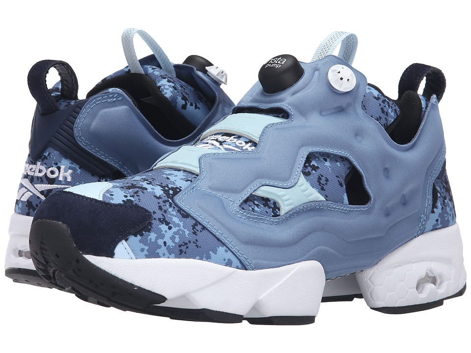 Reebok - Insta Pump Fury OG Camo (Camo/Blue Slate/Faux Indigo) Running Shoes