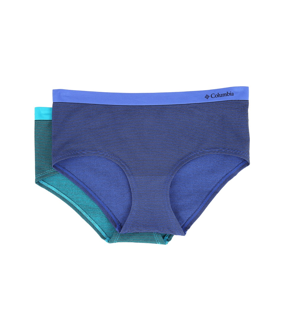 Columbia - Seamless Micro Boyshorts 2-Pack (Dazzling Blue/Capri Breeze) Women's Underwear