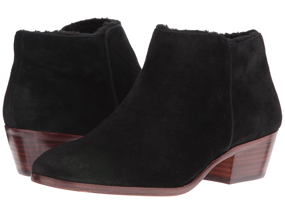 Sam Edelman - Petty (Black Slick Suede/Shearling Lined) Women's Shoes