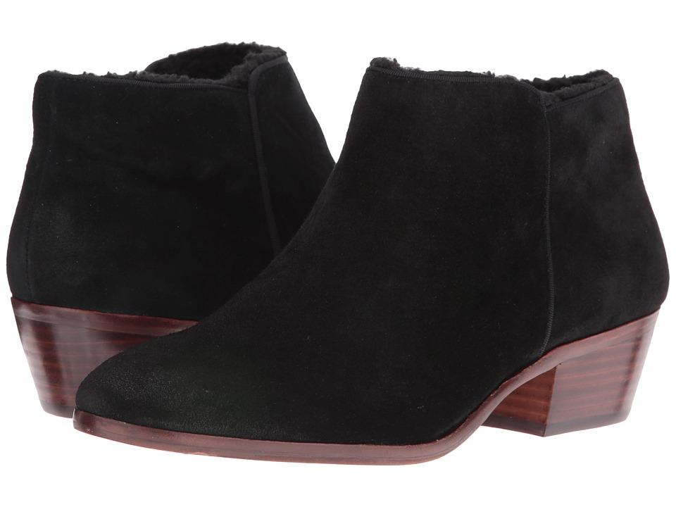 Sam Edelman - Petty (Black Slick Suede/Shearling Lined) Women's Shoes