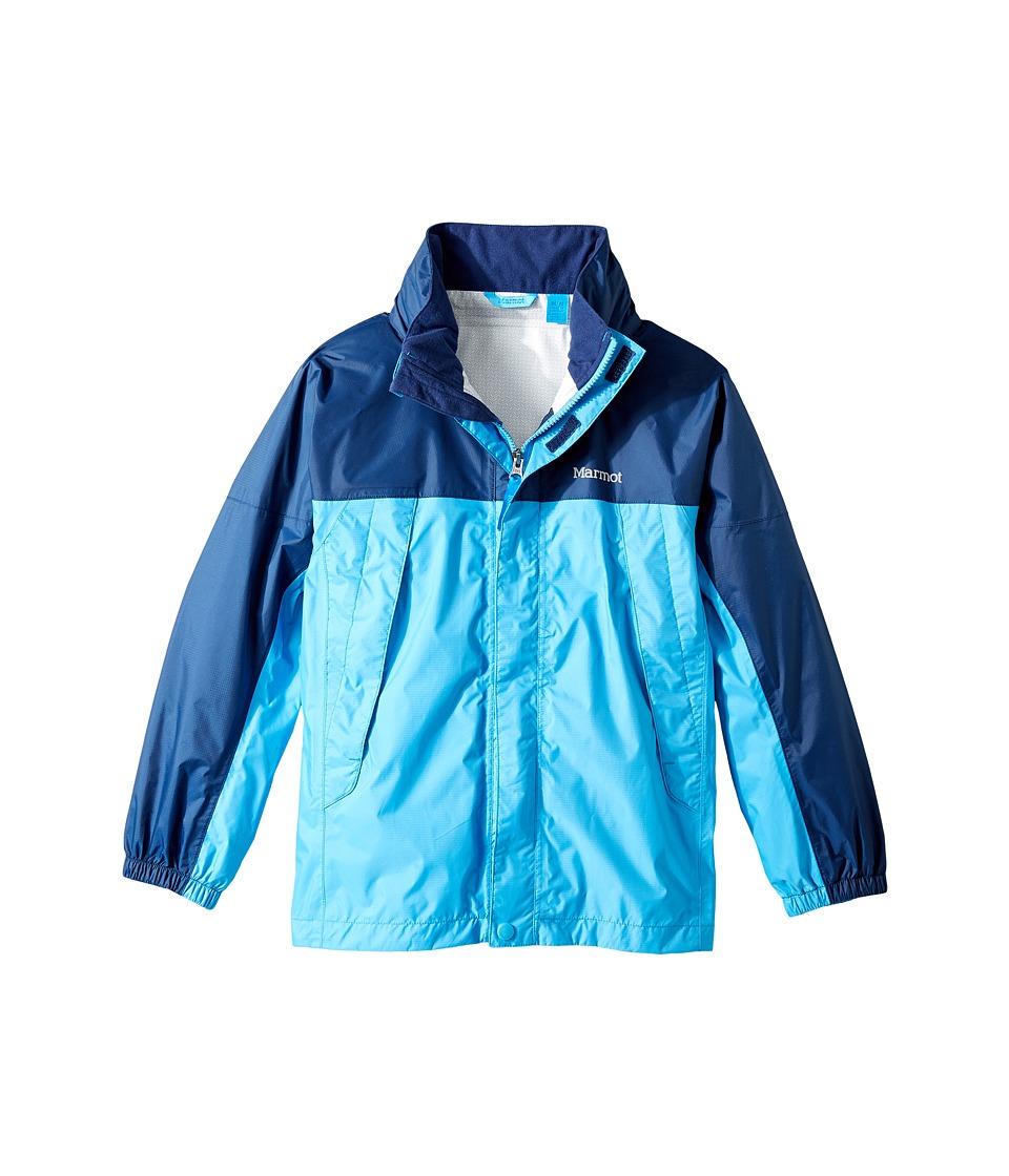 Marmot Kids - PreCip(r) Jacket (Little Kids/Big Kids) (Mykonos Blue/Arctic Navy) Boy's Coat