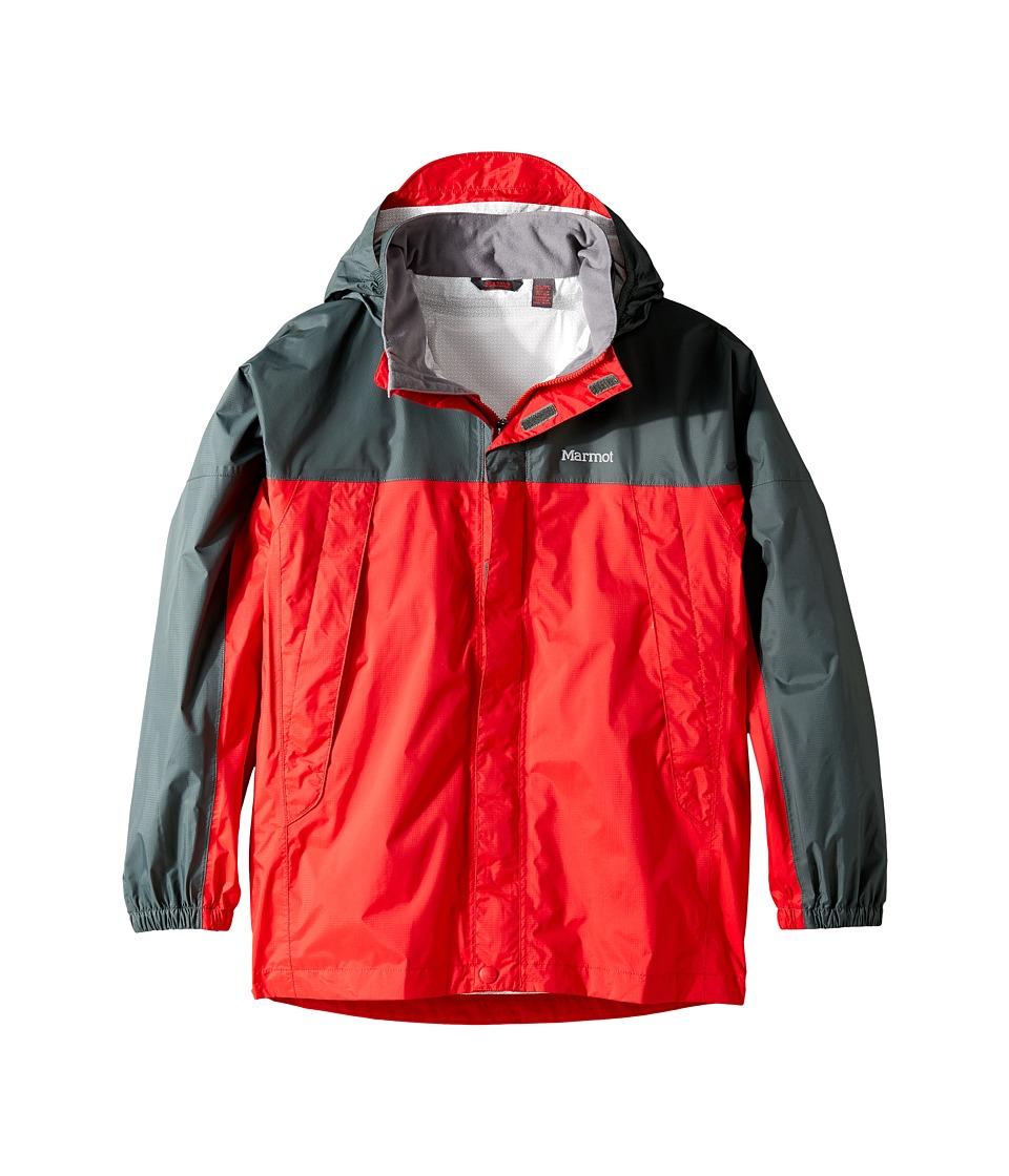 Marmot Kids - PreCip(r) Jacket (Little Kids/Big Kids) (Team Red/Dark Zinc) Boy's Coat