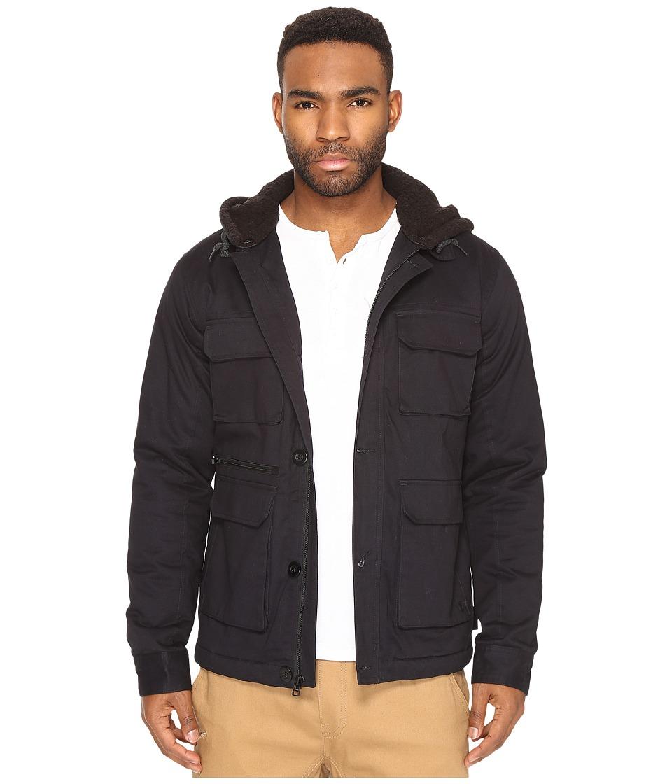 Tavik - Droogs II Plus Jacket (Black/Heather Black) Men's Coat
