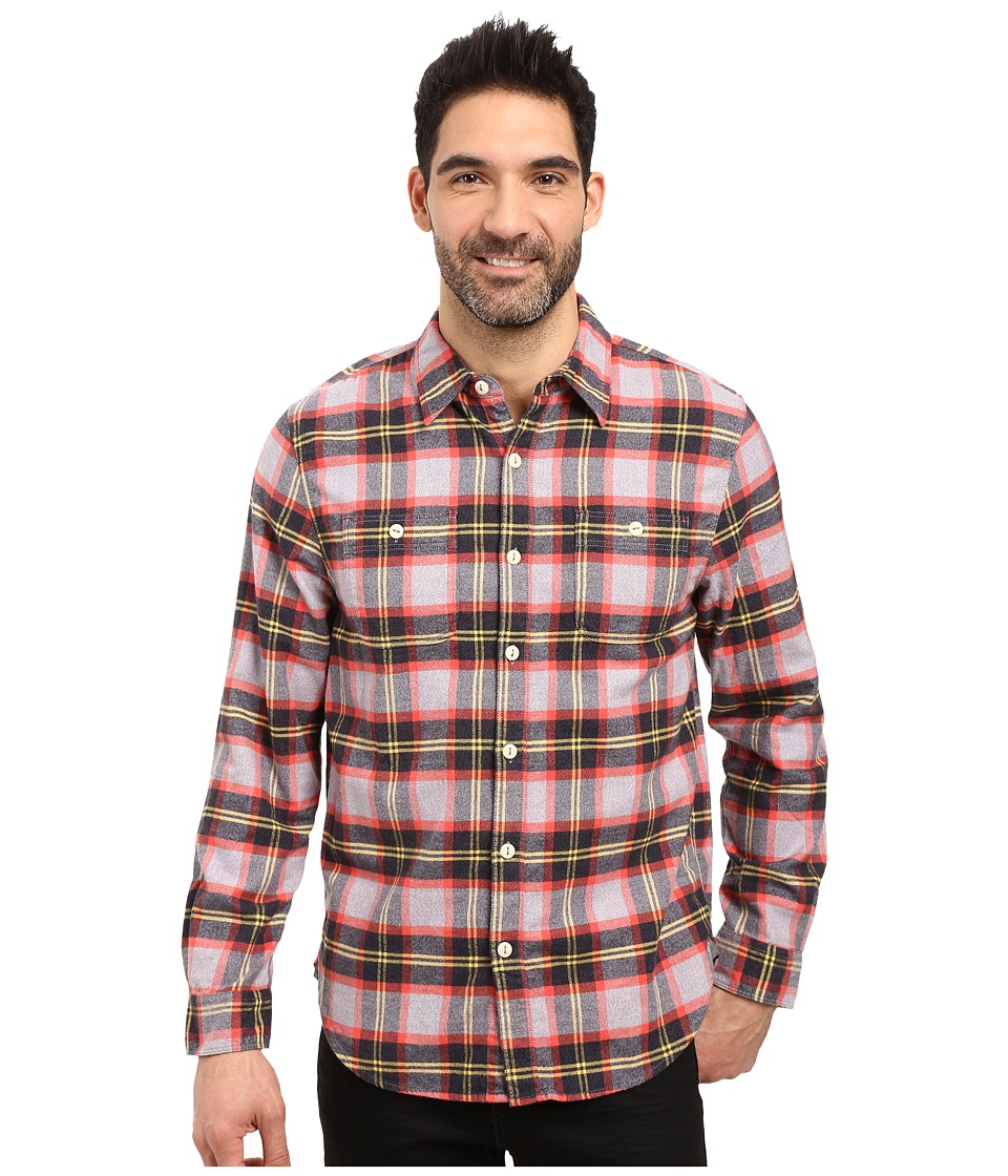 True Grit - Highway 1 Road Trip Plaids (Grey/Vintage Black) Men's Clothing