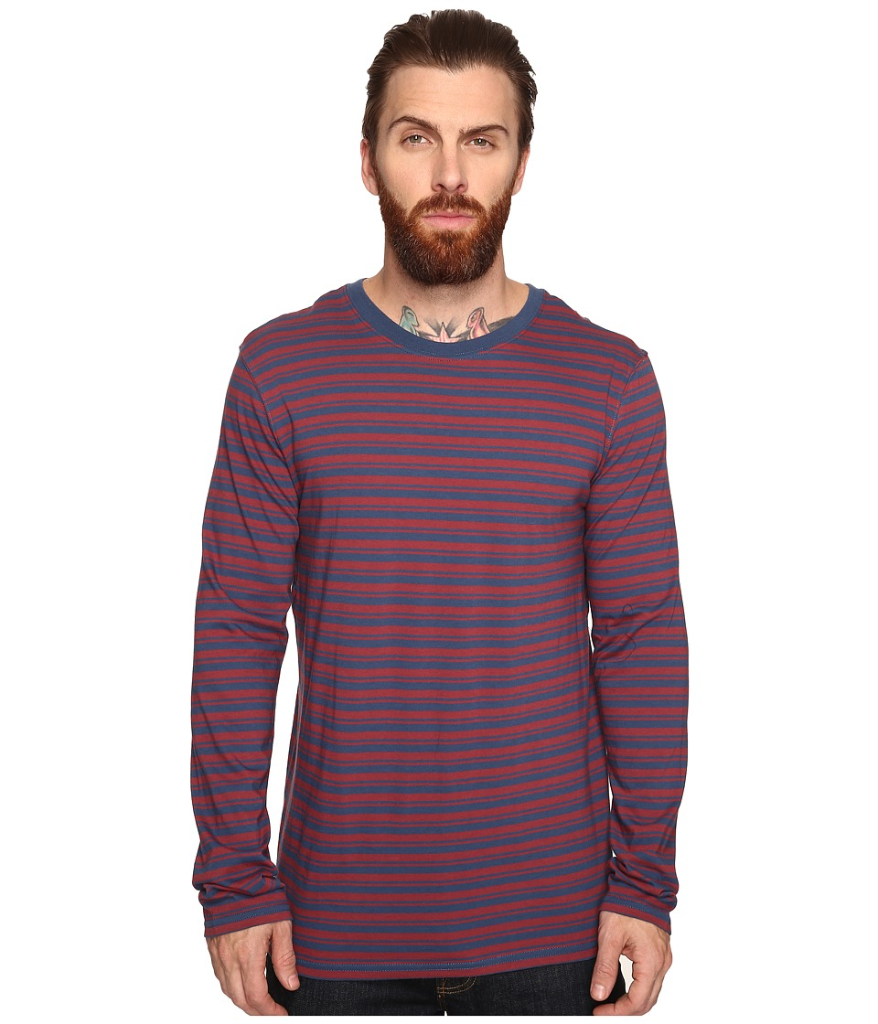 Tavik - Ellington Long Sleeve Stripe Knit (Oxblood/Nightshade) Men's Long Sleeve Pullover