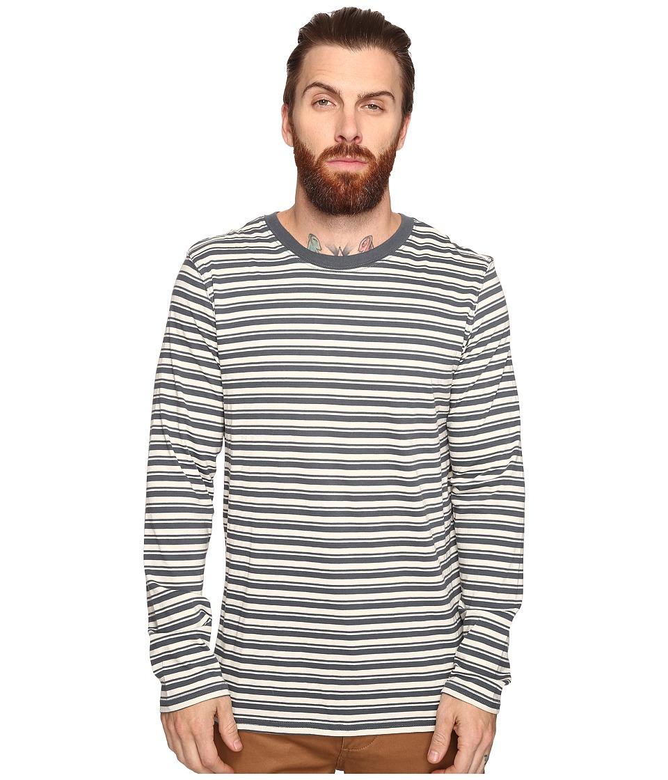 Tavik - Ellington Long Sleeve Stripe Knit (Concrete/Bone) Men's Long Sleeve Pullover