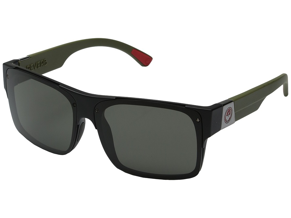 Dragon Alliance - Reverb (Matte Utility Green/Grey) Sport Sunglasses
