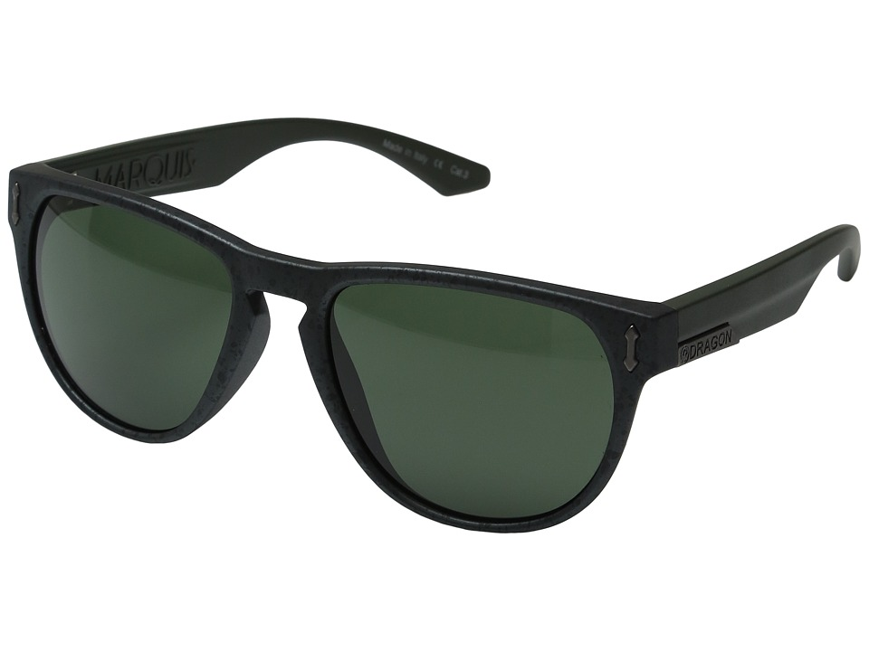 Dragon Alliance - Marquis (Matte Gunmetal Marble/Green) Sport Sunglasses
