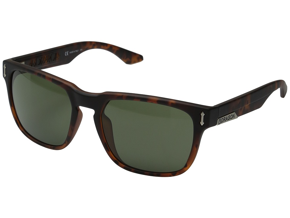 Dragon Alliance - Monarch (Matte Tortoise/Green) Sport Sunglasses