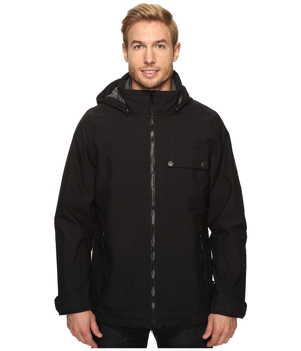 Jack Wolfskin - Vernon Jacket (Black) Men's Coat