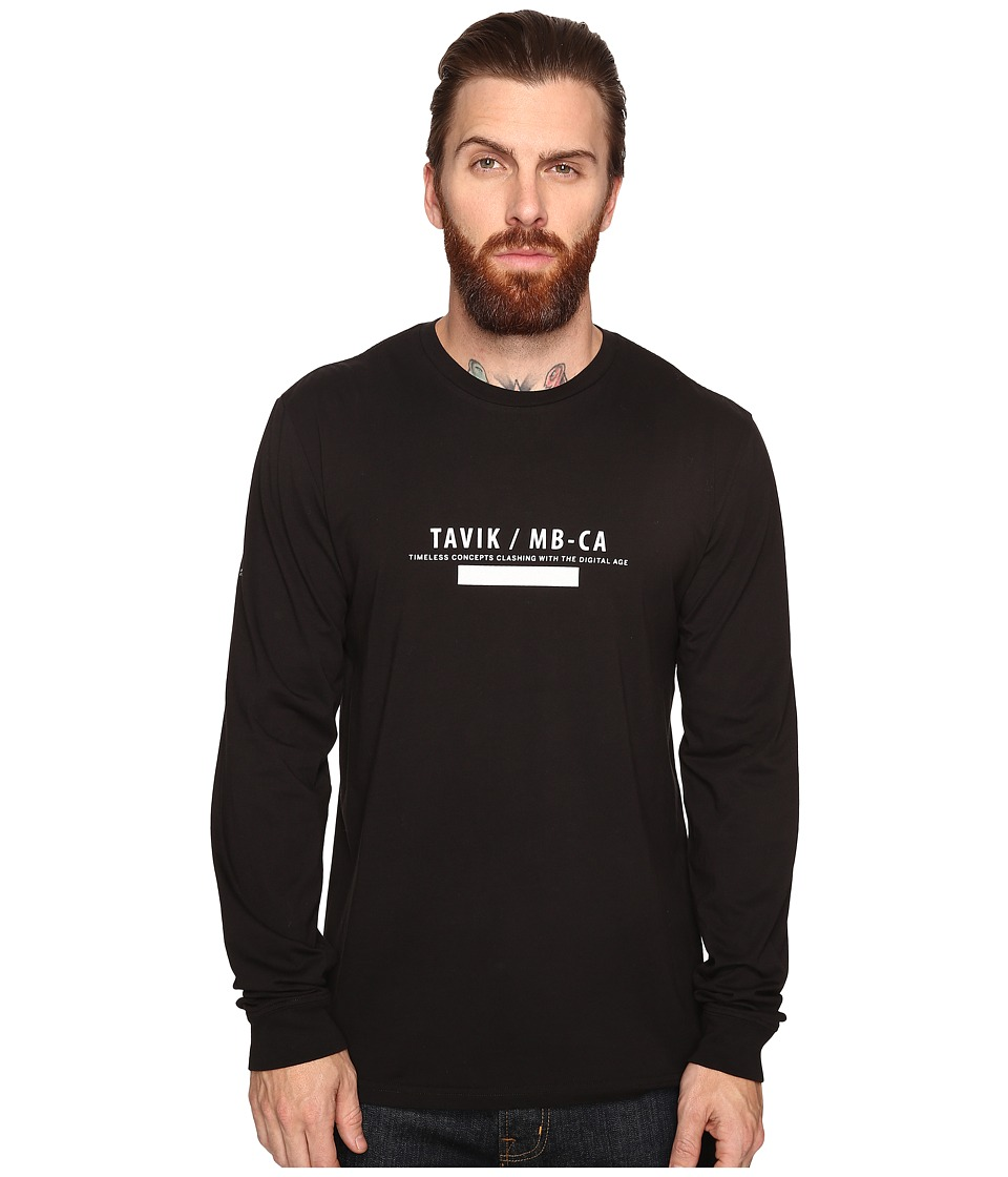 Tavik - Akinto Long Sleeve T-Shirt (Black) Men's T Shirt