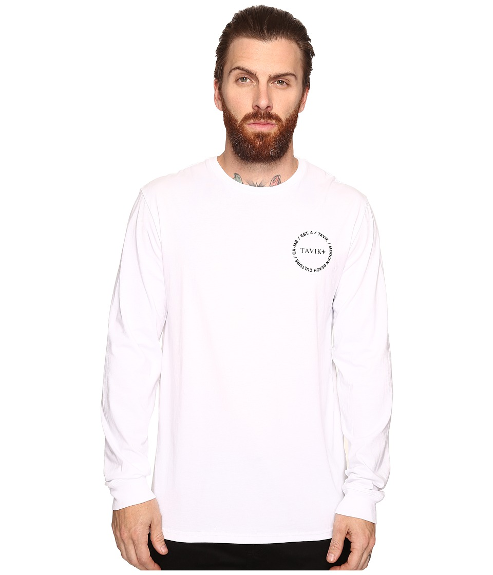 Tavik - Crew Long Sleeve T-Shirt (White) Men's T Shirt