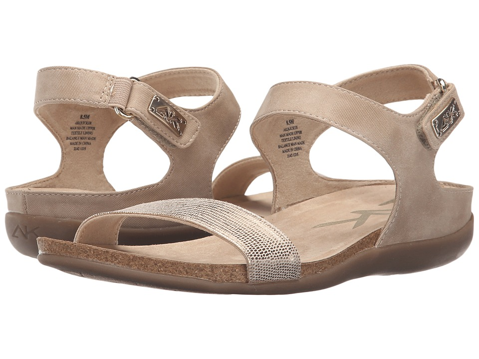 Anne Klein - Quicker (Light Natural/Light Gold Synthetic) Women's Sandals