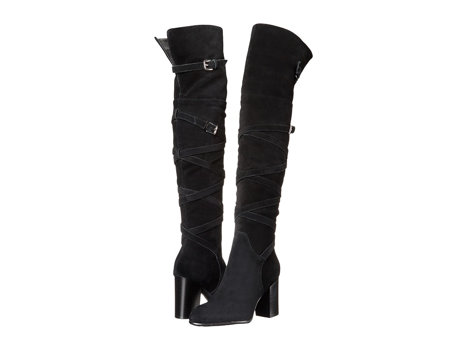 Sam Edelman Sable (Black Velour Suede Leather) Women