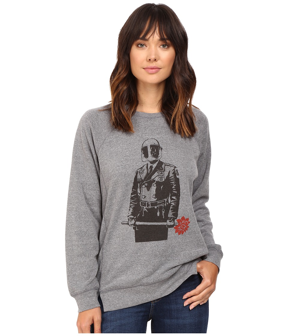 Obey - Sadistic Florist (Heather Grey) Women's Clothing