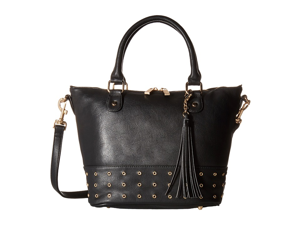 Deux Lux - London Satchel (Black) Satchel Handbags