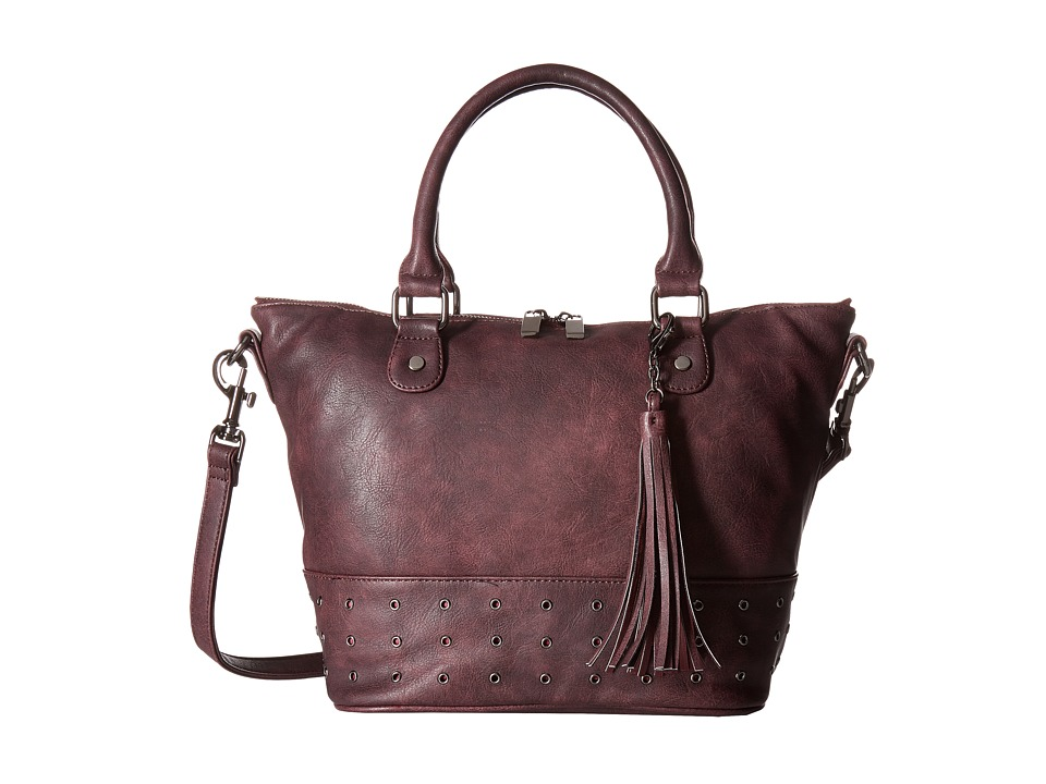 Deux Lux - London Satchel (Burgundy) Satchel Handbags