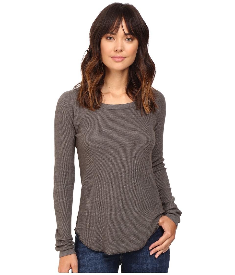 Obey - Throwback Thermal Raglan (Dusty Dark Grey) Women's Clothing