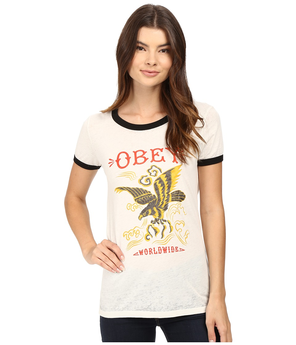 Obey - Eagle Soar (Cr me/Black) Women's Clothing