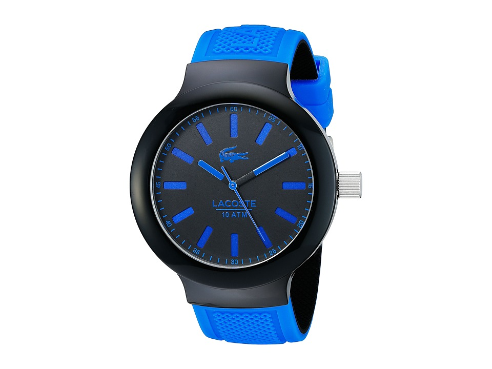 Lacoste - 2010815 - BORNEO 3H (Black/Blue) Watches