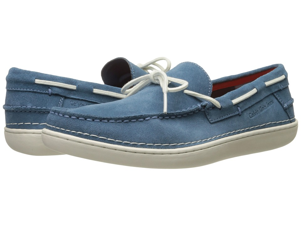 Calvin Klein Jeans - Calico (Steel Blue Cow Suede) Men's Shoes