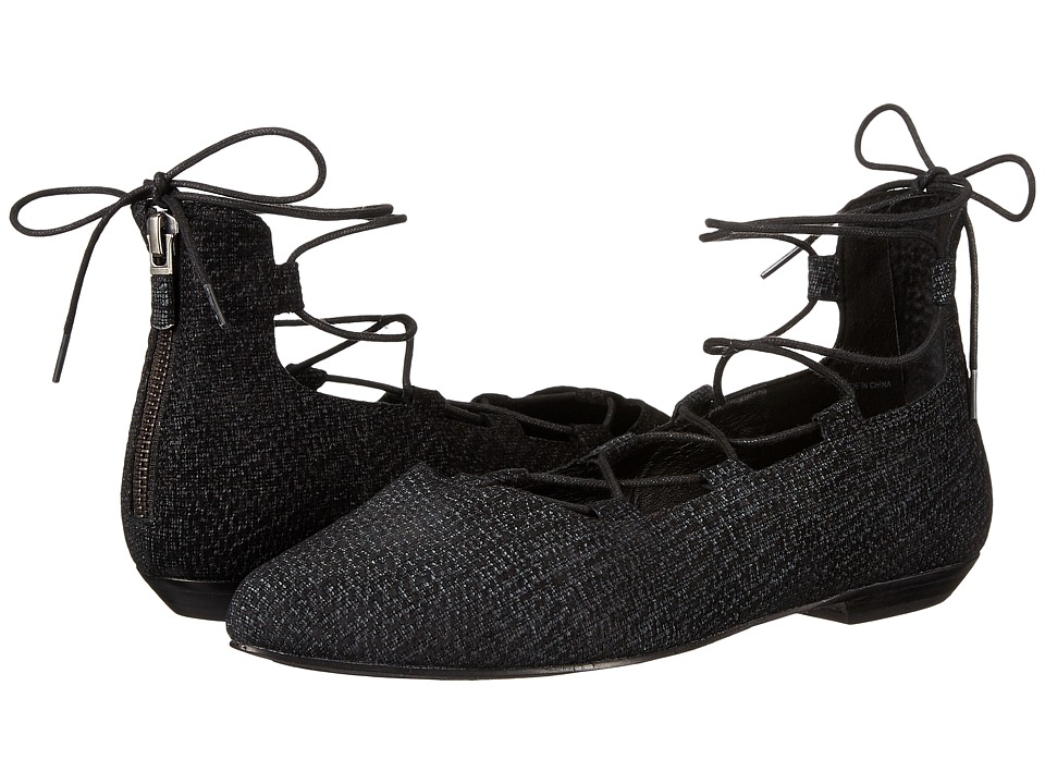 Eileen Fisher - Loop 2 (Black Tweed Print Suede) Women's Shoes