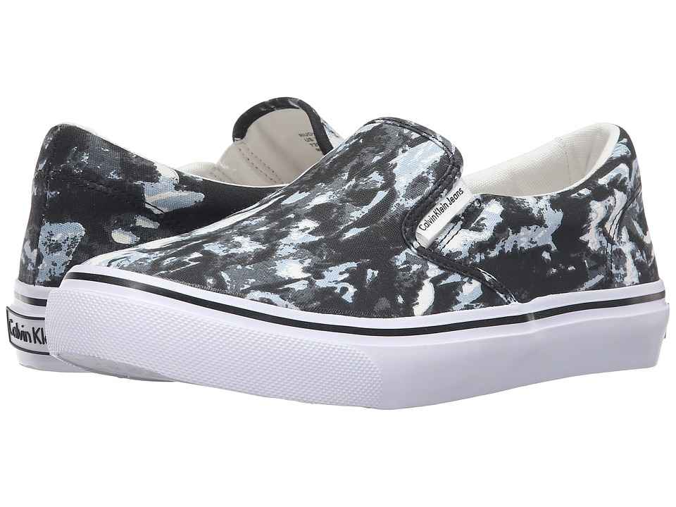 Calvin Klein Jeans - Rudy (Black/White Tie-Dye Canvas) Men's Shoes