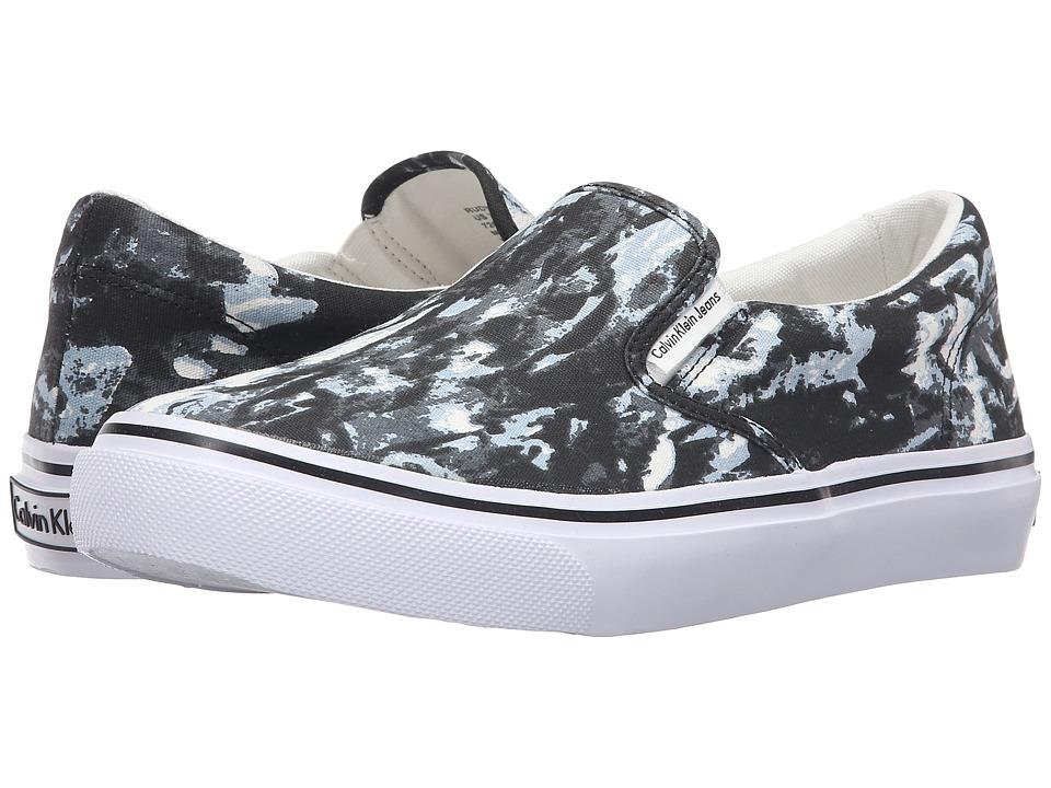 Calvin Klein Jeans - Rudy (Black/White Tie-Dye Canvas) Men's Shoes