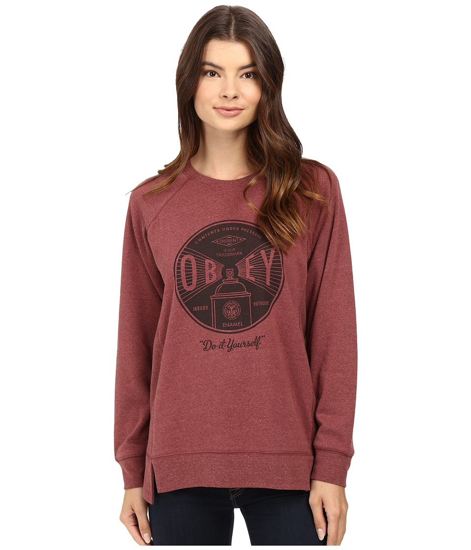 Obey - Obey Under Pressure (Heather Berry) Women's Clothing