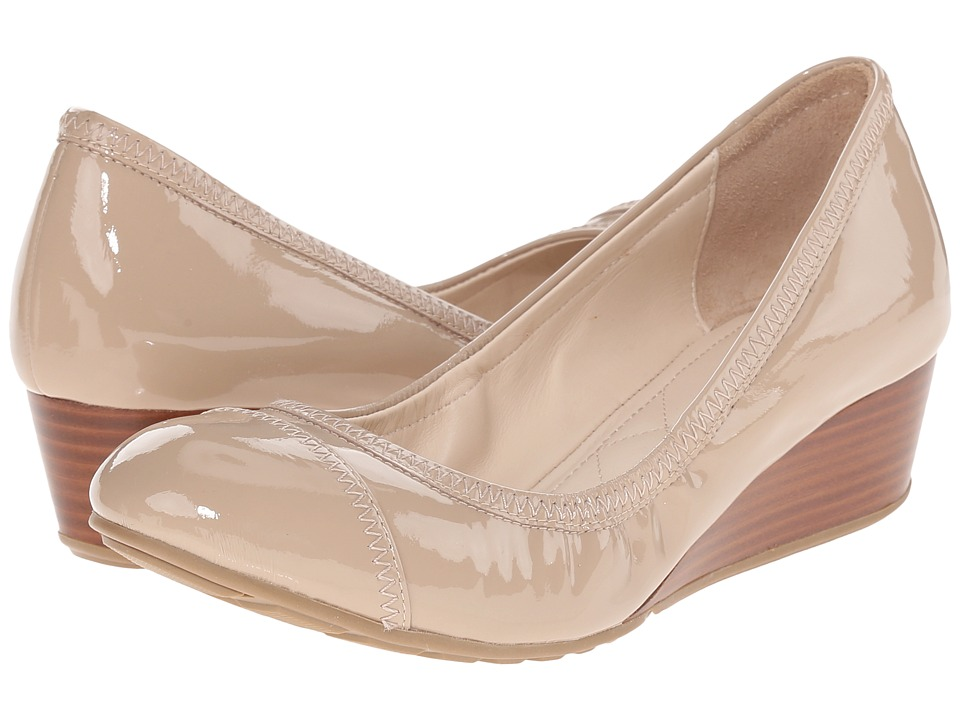 Cole Haan - Tali Cap Toe Wedge 40 (Gold Metallic) Women's Wedge Shoes