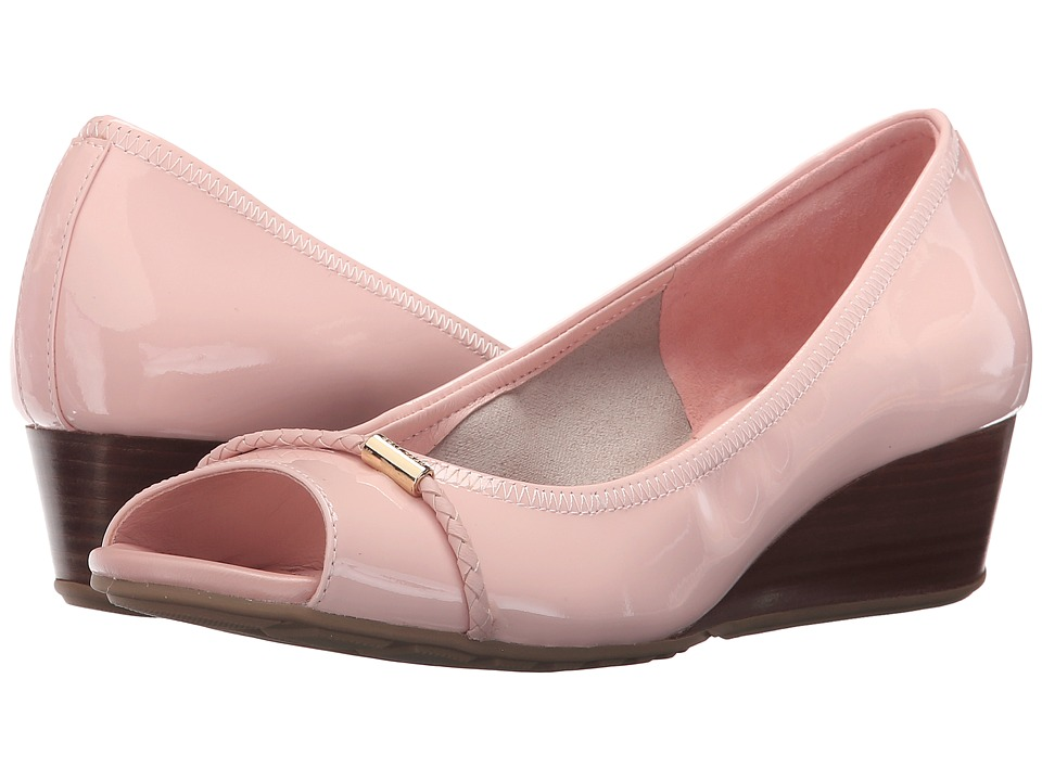 Cole Haan - Tali Open Toe Wedge 40 (Seashell Pink Patent) Women