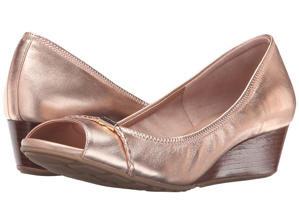 Cole Haan - Tali Open Toe Wedge 40 (Rose Gold) Women's Wedge Shoes