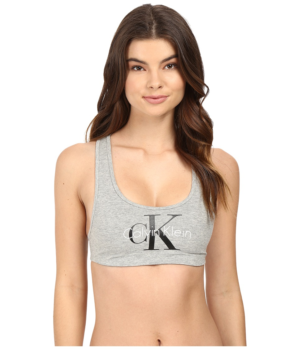 Calvin Klein Underwear - Retro Lightly Lined Bralette (Millenial Stripe Silver Foil) Women's Bra