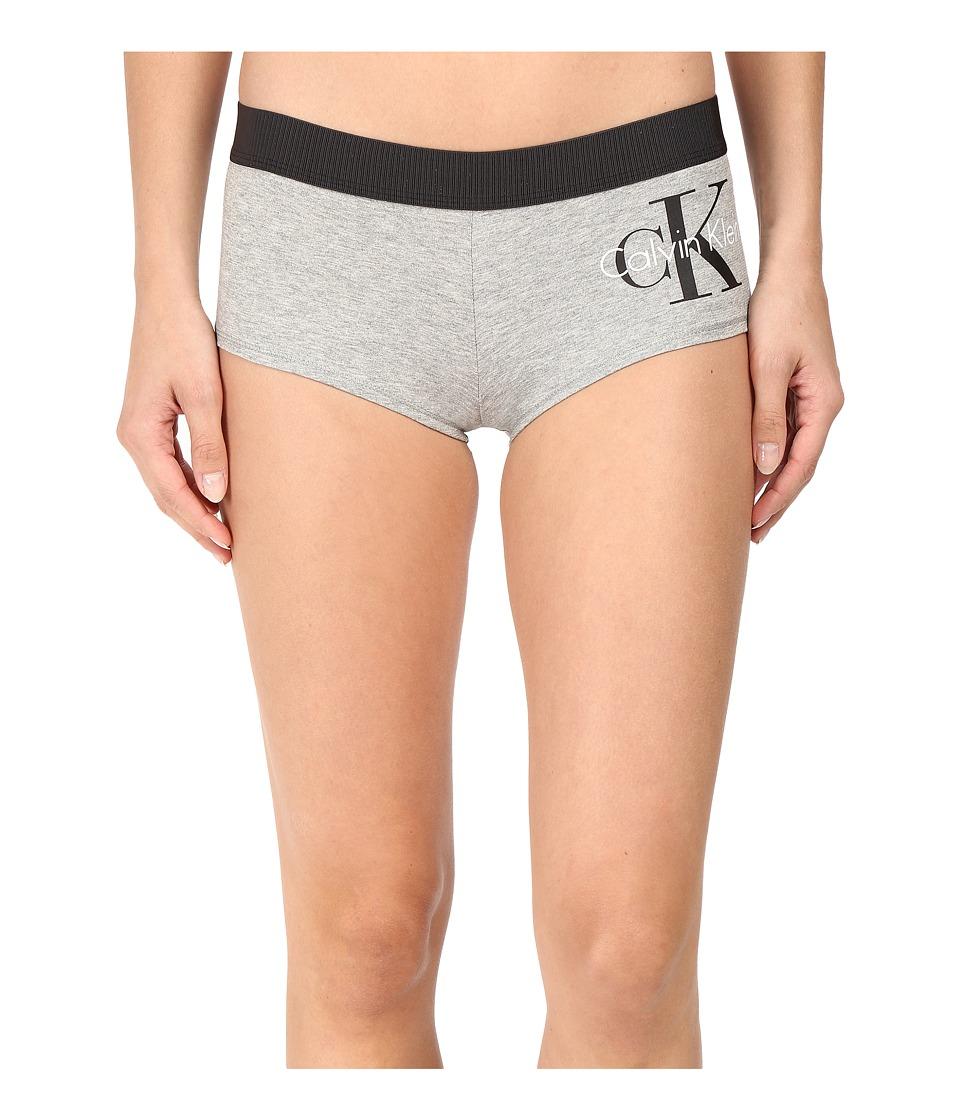 Calvin Klein Underwear - Retro Boyshorts (Millenial Stripe Silver Foil) Women's Underwear