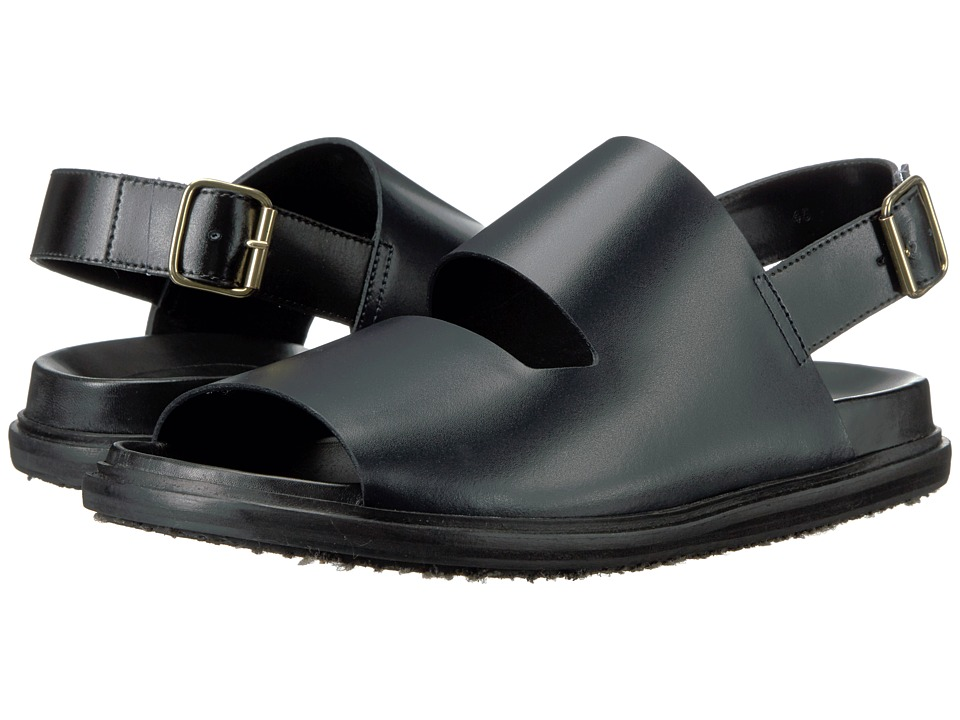 MARNI - Calf Leather Sandal (Blue) Men's Sandals