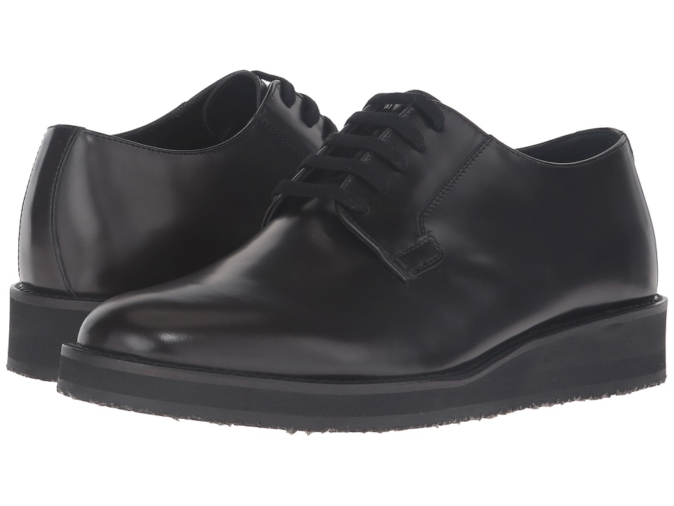 MARNI - Brushed Leather Lace-Up Oxford (Brown) Men's Lace up casual Shoes