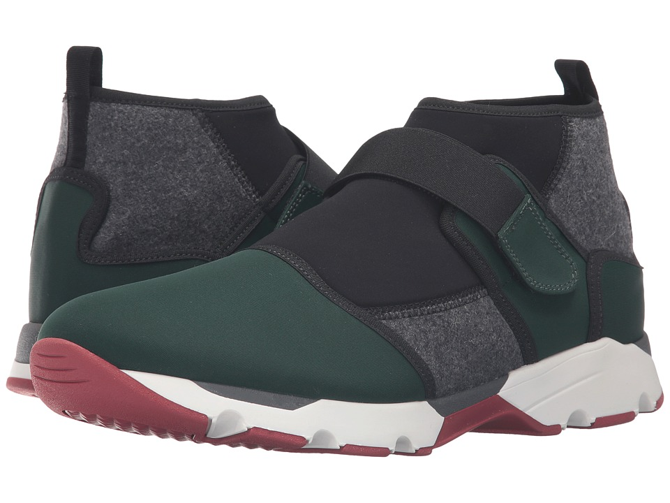MARNI - Felt/Neoprene Sneaker (Military/Green/Grey/Black) Men's Shoes