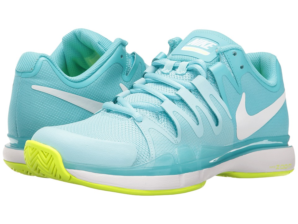 Nike - Zoom Vapor 9.5 Tour (Polarized Blue/White/Still Blue/Volt) Women's Tennis Shoes