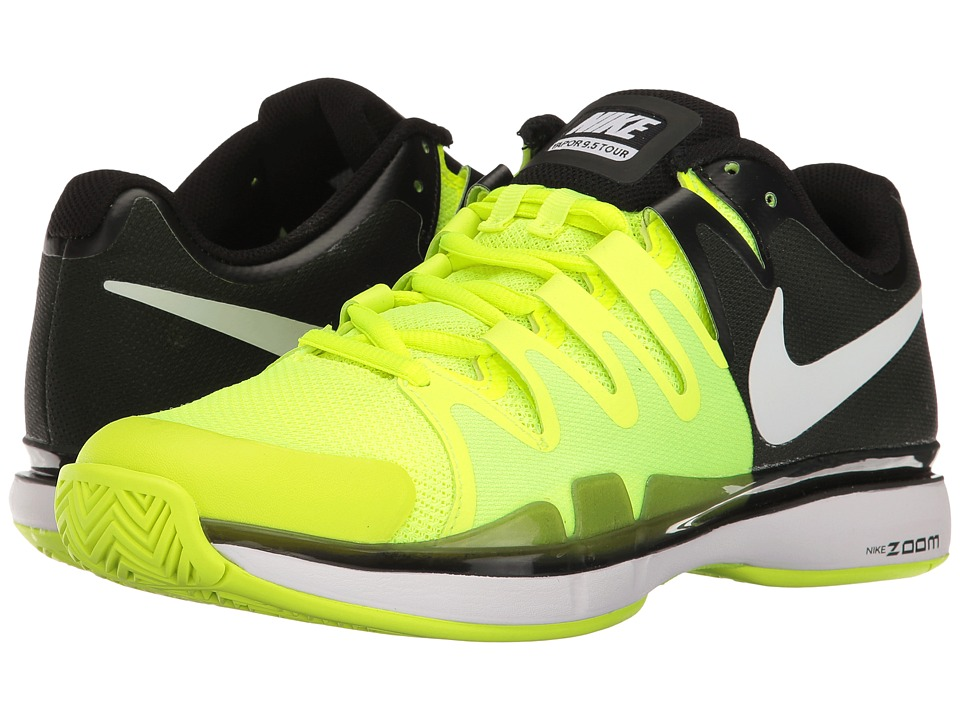 Nike - Zoom Vapor 9.5 Tour (Volt/White/Black) Women's Tennis Shoes
