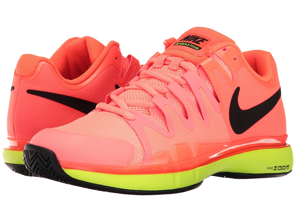 Nike - Zoom Vapor 9.5 Tour (Hyper Orange/Black/Volt) Women's Tennis Shoes