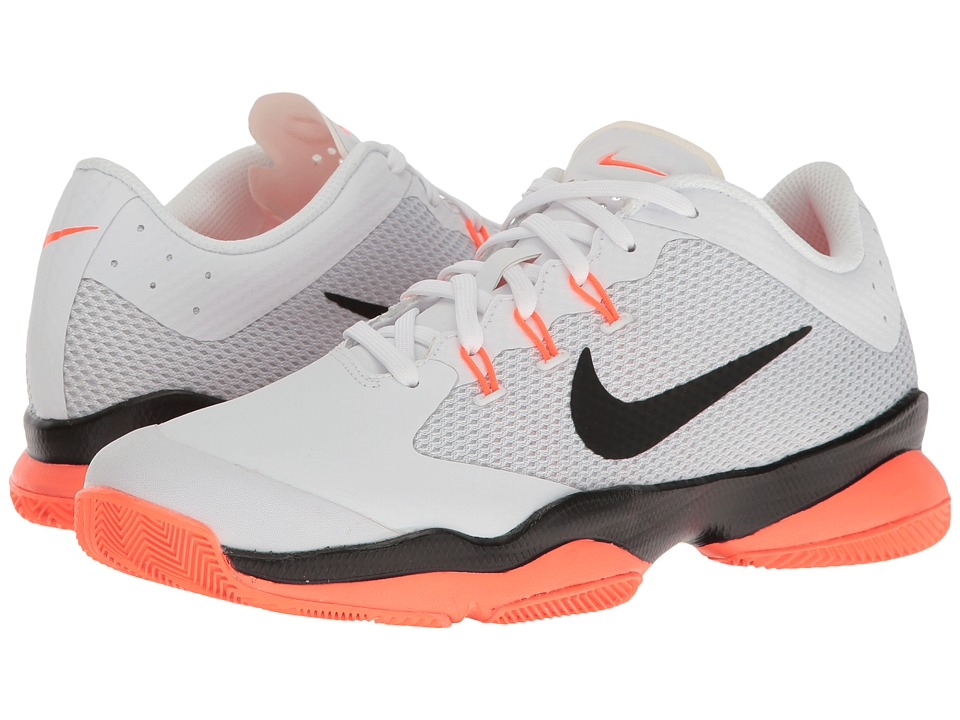 Nike - Air Zoom Ultra (White/Black/Hyper Orange/Pure Platinum) Women's Tennis Shoes