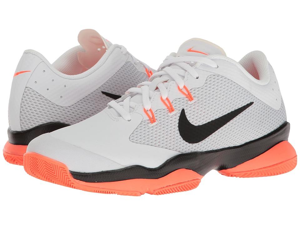Nike - Air Zoom Ultra (White/Black/Hyper Orange/Pure Platinum) Women's Tennis Shoes